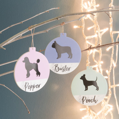 Personalised Colour Contrast Pet Bauble