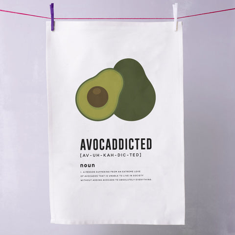 'Avocaddicted' Avocado Tea Towel