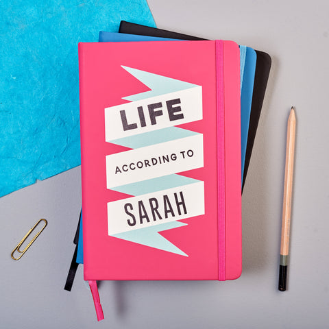 Personalised 'Life According To' Notebook