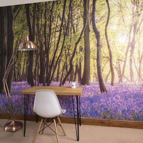 Bluebell Woods Self Adhesive Wallpaper Mural - Oakdene Designs - 2