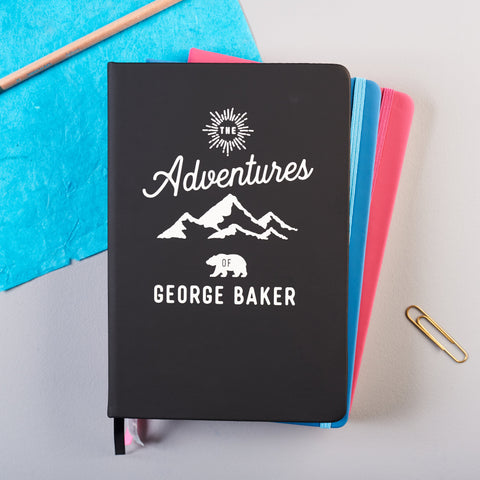 Personalised 'Adventures Of' Notebook