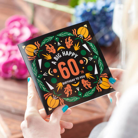 60th Birthday Age Card Sent Direct