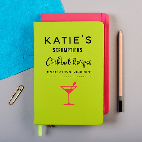 Personalised Cocktail Recipe Notebook