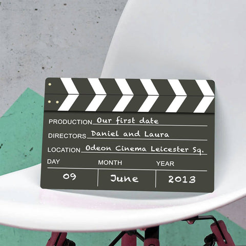 Personalised Hollywood Film Clapper Metal Plaque