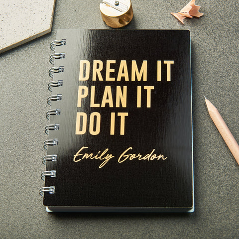 Personalised 'Dream It' Metallic Pocket Notebook
