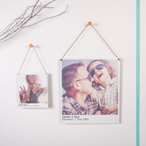 Personalised Hanging Metal Photo Print