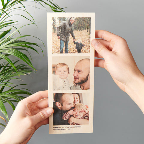 Personalised Birch Ply Photo Strip