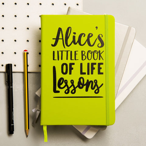 Personalised Life Lessons Notebook - Oakdene Designs - 1