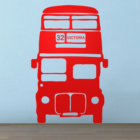 Personalised Bus Vinyl Wall Sticker - Oakdene Designs - 1