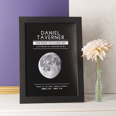 Personalised Moon Phase Print - Oakdene Designs - 1