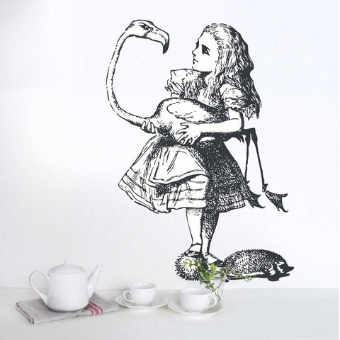 'Alice Plays Croquet' Vinyl Wall Sticker