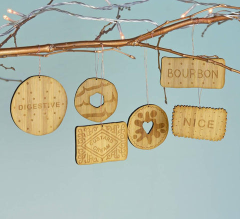 Bamboo Biscuit Decorations - Oakdene Designs