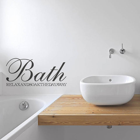 Bath Sign Vinyl Sticker - Oakdene Designs - 1