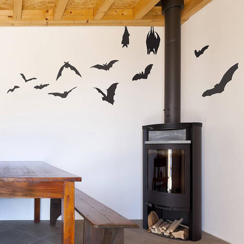 Bats And Spiders Halloween Wall Sticker - Oakdene Designs - 1