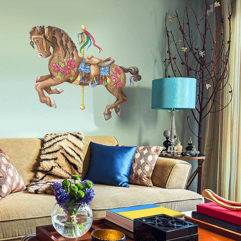 bay carousel horse wall sticker | wall stickers | wall decals