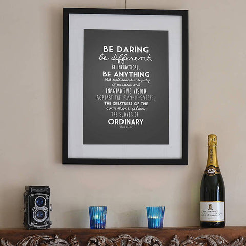 Be Daring Typographical Print - Oakdene Designs - 1
