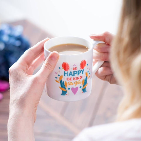'Be Happy' Mindful Bone China Mug
