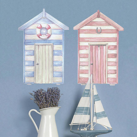 Beach Hut Vinyl Wall Sticker - Oakdene Designs - 1