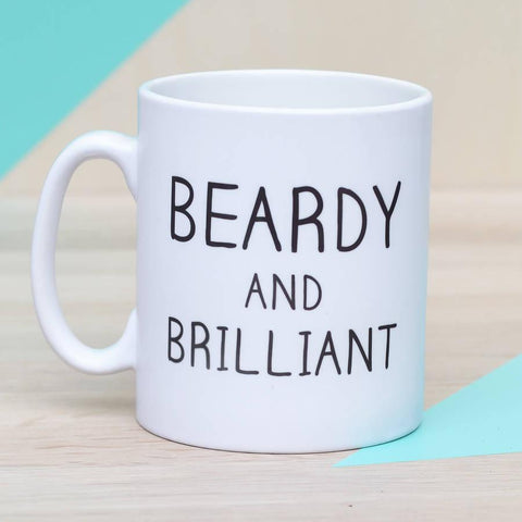 'Beardy And Brilliant' Ceramic Man Mug