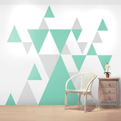 Geometric Pattern Giant Wall Sticker Set - Oakdene Designs - 1