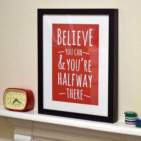 'Believe' Graphic Design Print - Oakdene Designs - 1