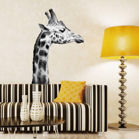 Black And White Giraffe Wall Sticker - Oakdene Designs - 1