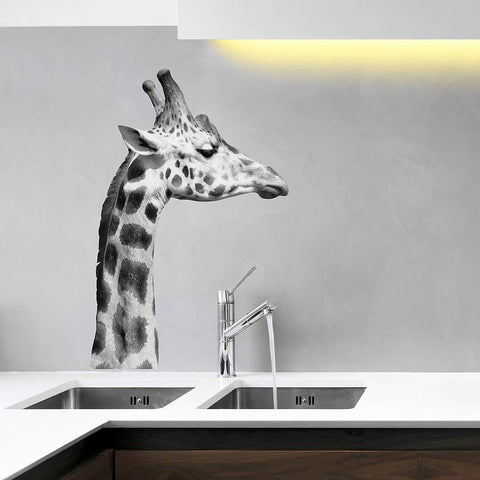black and white giraffe wall sticker | wall stickers | wall decals