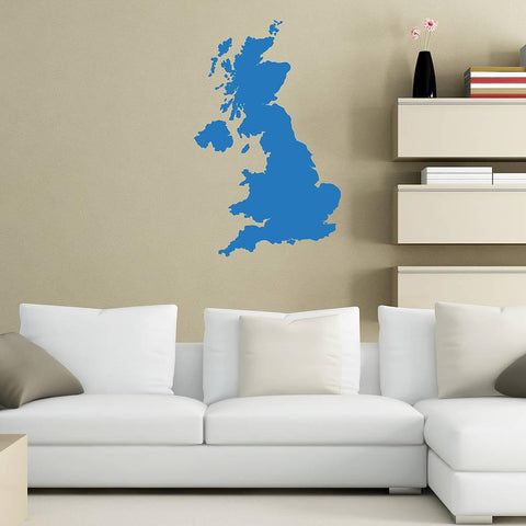 Great Britain Map Vinyl Wall Sticker - Oakdene Designs - 1