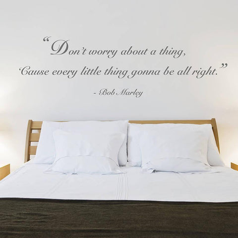 'Don't Worry' Quote Wall Sticker - Oakdene Designs - 1
