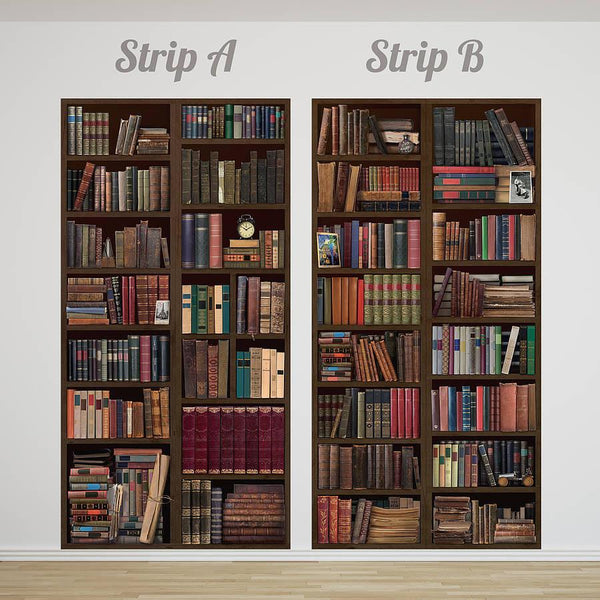 Bookcase self adhesive wall mural for Bookshelf wall mural