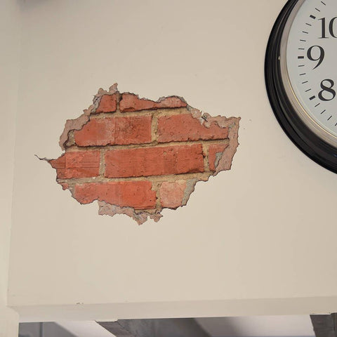 Brick And Plaster Wall Sticker - Oakdene Designs