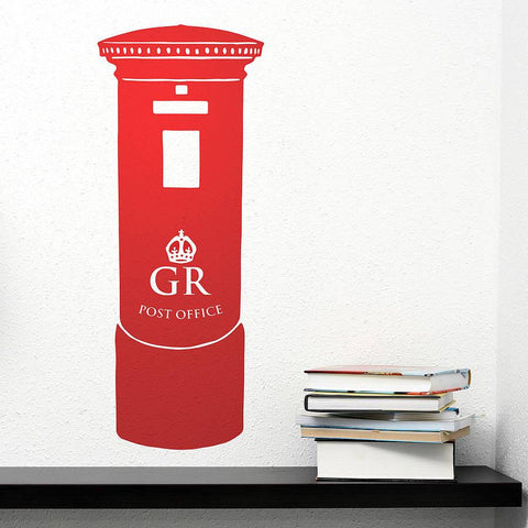 British Pillar Post Box Vinyl Wall Sticker - Oakdene Designs - 1