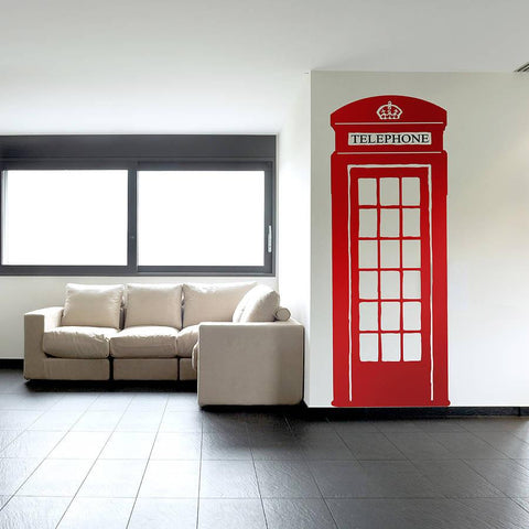 British Telephone Box Wall Sticker - Oakdene Designs