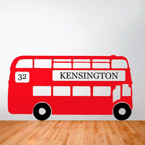 Personalised Retro London Bus Wall Sticker - Oakdene Designs