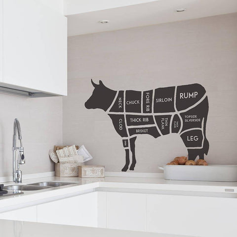 Butchers Cow Wall Sticker - Oakdene Designs - 1