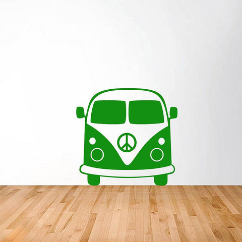 1960'S Splitty Camper Van Vinyl Wall Sticker - Oakdene Designs