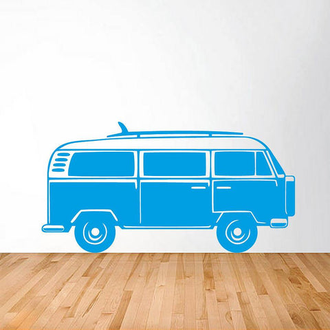 Camper Van Vinyl Wall Sticker - Oakdene Designs - 1
