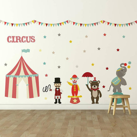 Children's Circus Wall Sticker Set - Oakdene Designs - 1