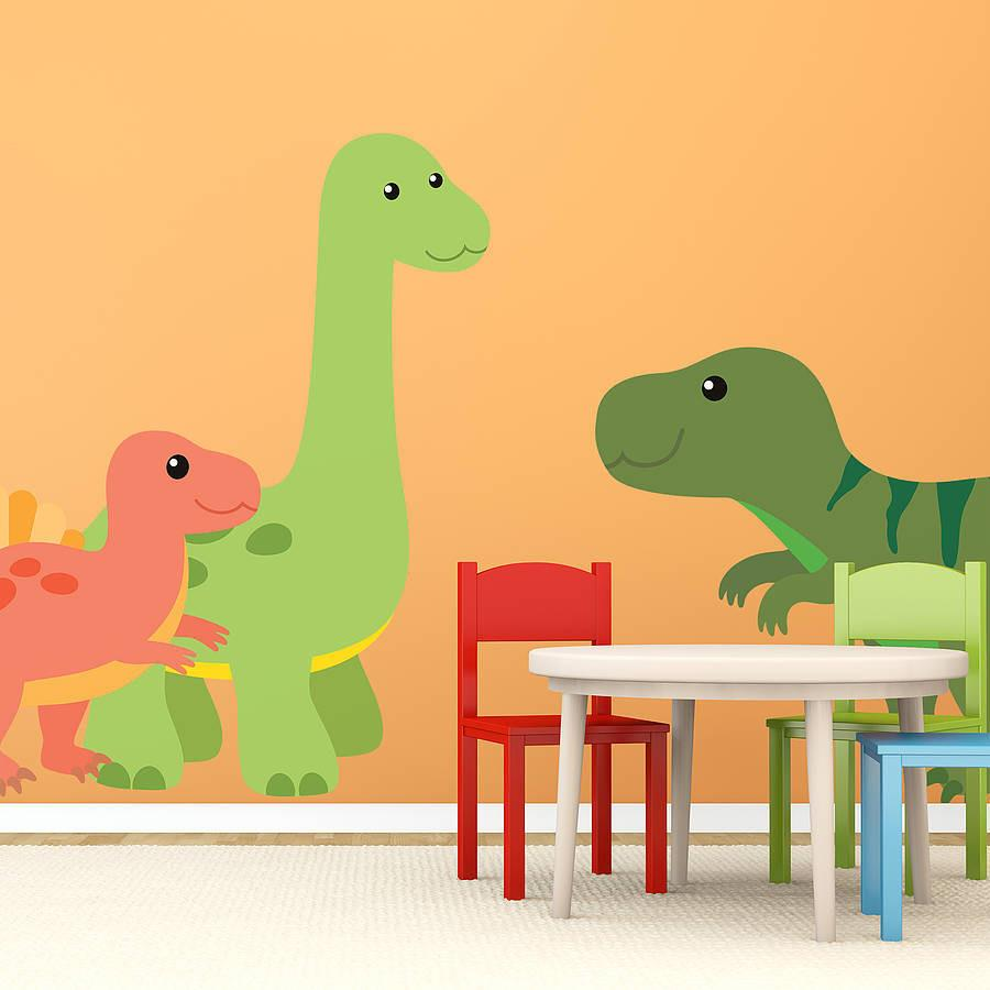 Childrenu0027s Dinosaur Wall Sticker Set   Oakdene Designs   1 Part 45