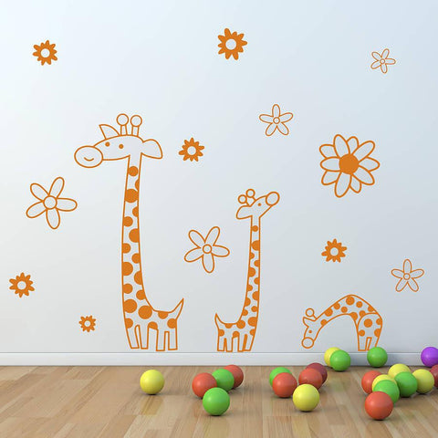 Children's Giraffe Wall Sticker Set - Oakdene Designs
