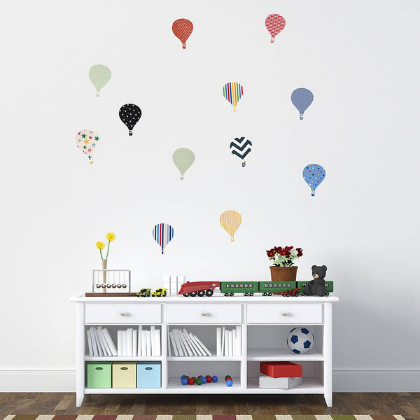 Childrens hot air balloon wall stickers oakdenedesigns com