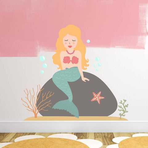 Children's Mermaid Wall Sticker Set