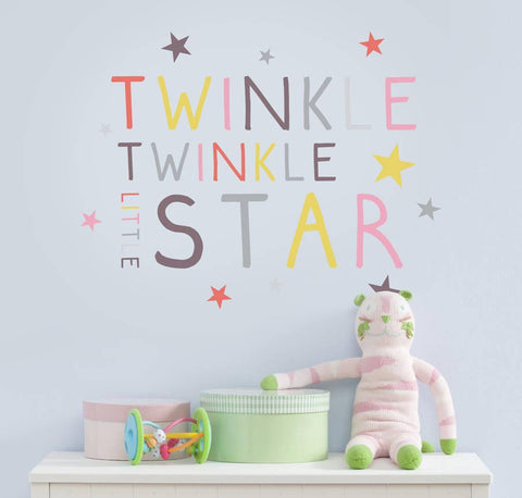 Children's Pastel Twinkle, Twinkle Wall Sticker - Oakdene Designs - 1