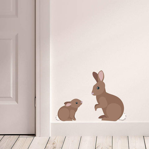 Children's Rabbit Wall Stickers - Oakdene Designs - 1