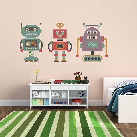 Children's Retro Robot Sticker Set - Oakdene Designs - 1