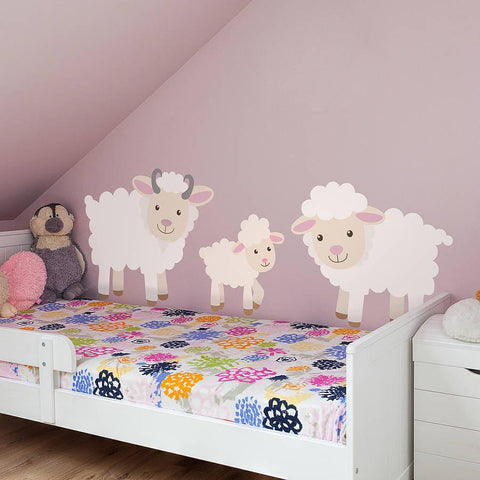 Children's Sheep Wall Sticker Set - Oakdene Designs - 1