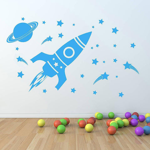 'Children's Space Set' Wall Sticker - Oakdene Designs - 1