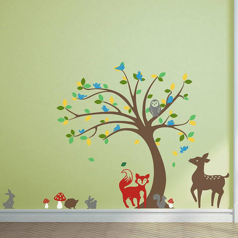 Children's Tree And Animals Sticker Set - Oakdene Designs - 1
