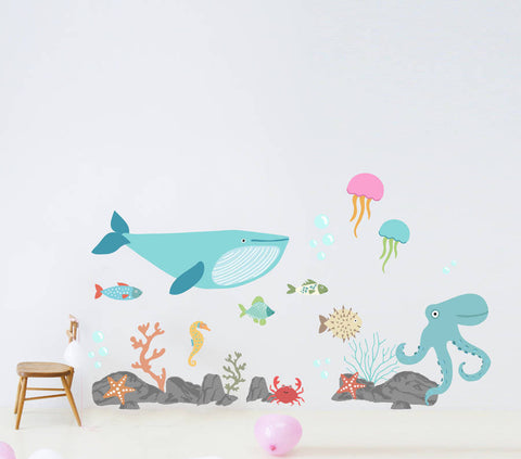 Children's Under The Sea Wall Sticker Set