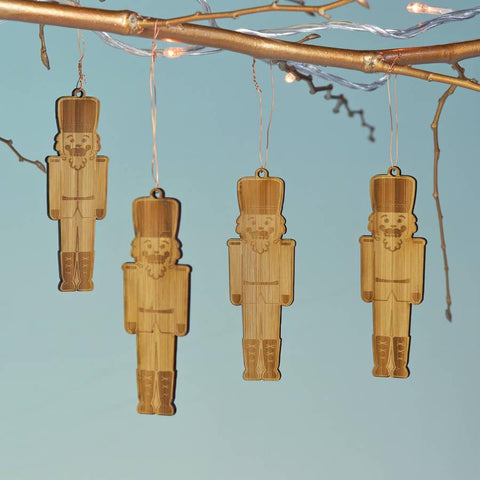 Christmas Bamboo Nutcracker Decorations - Oakdene Designs